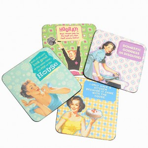 Fabulous retro women's coasters