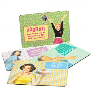 Go retro, with these Past Times place mats