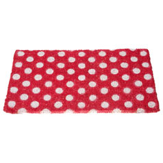 Dotty door mat from Oliver Bonas
