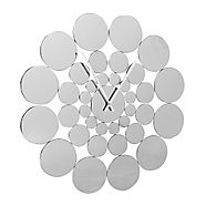 Contemporary metal wall clock home accessories