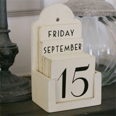 Cream Perpentula Calender 1