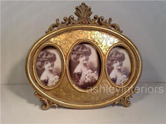 Victorian miniature photo frame