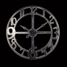 Jumbled number iron skeleton wall clock