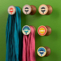 spool wall hangers
