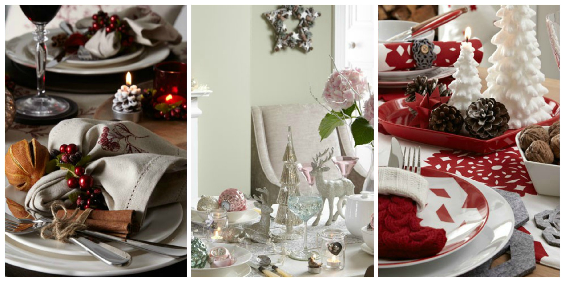 Festive Home Decor 10 Christmas table decoration ideas  : festive home decor christmas table decoration ideas john lewis from www.homegems.net size 2400 x 1200 jpeg 483kB
