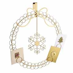 bauble over door card holder