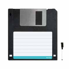 floppy disc memo board