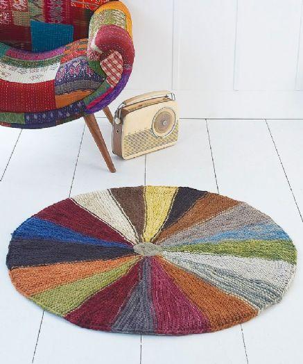Handknit Circular Rug