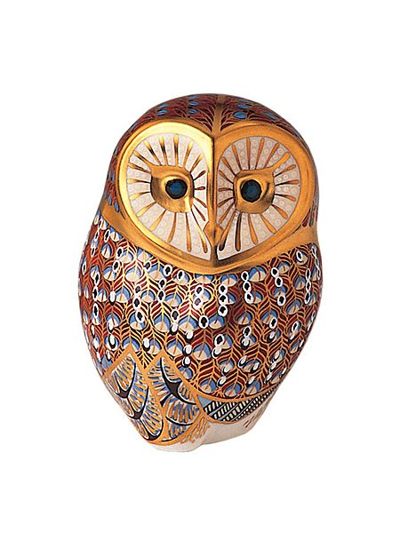 Designer barn owl paperweight by Royal Crown Derby