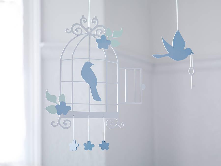 Bird cage design mobile
