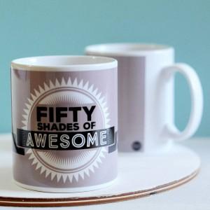 Fifty shades of awesome mug