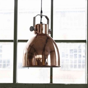Copper ceiling light featured on Home Gems