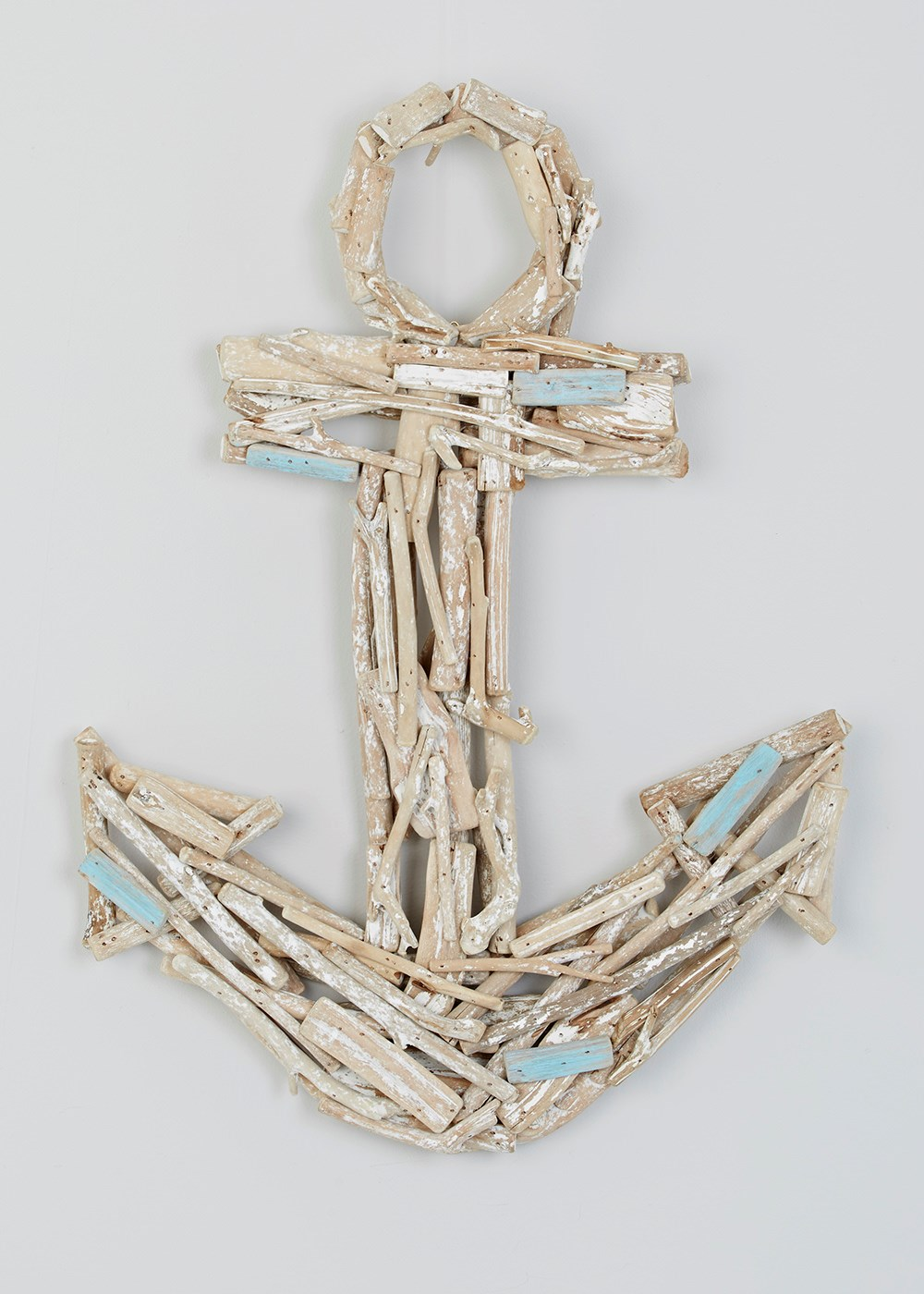 Gorgeous driftwood style wooden anchor - perfect for a coastal inspired interior design scheme