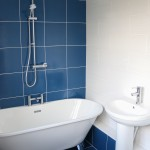 Spa style bathroom makeover by Cassie Fairy with Tile Trader