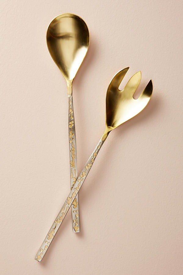 Gorgeous handcrafted brass serving set
