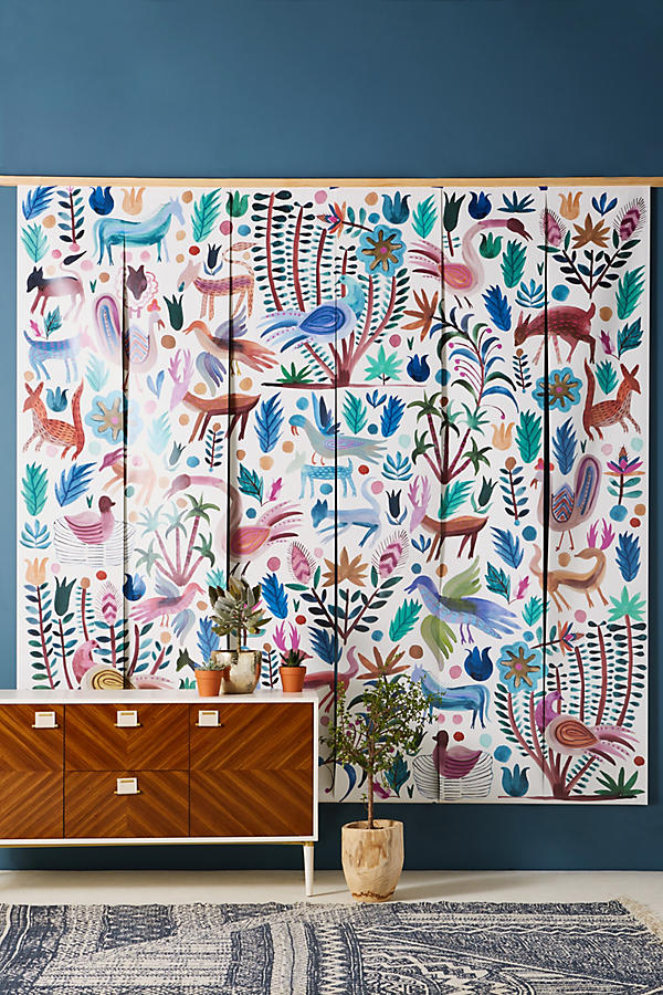 Stunning wall mural to brighten up an interior wall