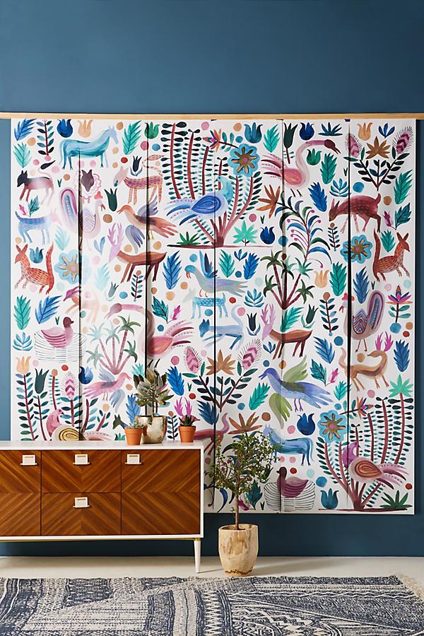 Stunning wall mural to brighten up an interior wall